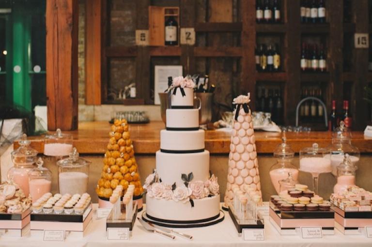 glam dessert table