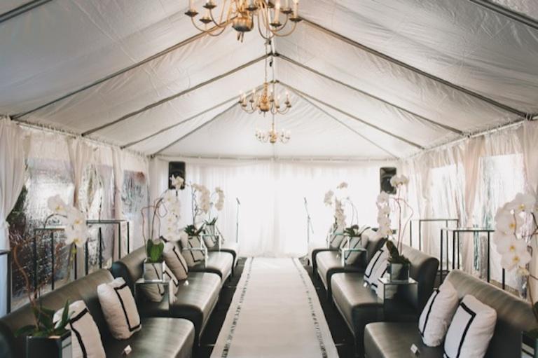 Fancy wedding lounge area