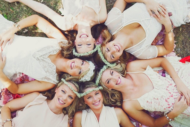 Fun bridesmaids pose!